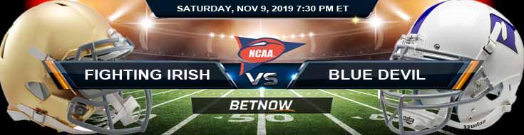 Notre Dame Fighting Irish vs Duke Blue Devils 11-09-2019 Picks Predictions and Game Analysis