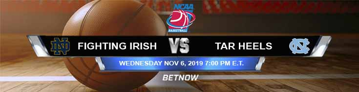 Notre Dame Fighting Irish vs North Carolina Tar Heels 11-06-2019 Predictions Preview and Spread