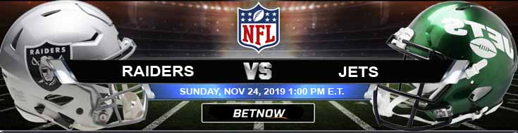 Oakland Raiders vs New York Jets 11-24-2019 Picks Predictions and Previews