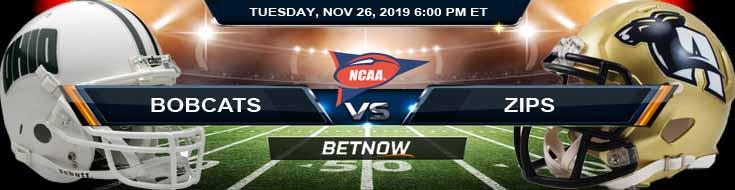 Ohio Bobcats vs Akron Zips 11-26-2019 Picks Odds and Spread