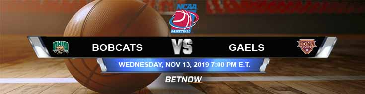 Ohio Bobcats vs Iona Gaels 11-13-2019 Predictions Previews and Odds