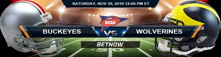 Ohio State Buckeyes vs Michigan Wolverines 11-30-2019 NCAAF Football Odds and Predictions