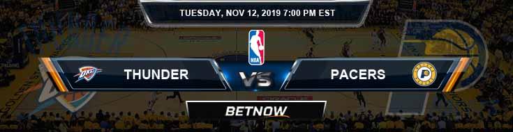 Oklahoma City Thunder vs Indiana Pacers 11-12-2019 NBA Odds and Picks