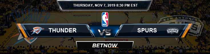 Oklahoma City Thunder vs San Antonio Spurs 11-07-2019 NBA Odds and Picks