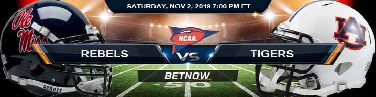 Ole Miss Rebels vs Auburn Tigers 11-02-2019 Game Analysis Odds and Picks