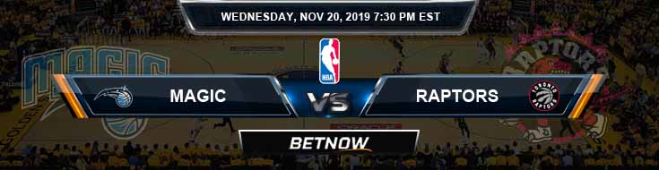 Orlando Magic vs Toronto Raptors 11-20-2019 Odds Previews and Prediction