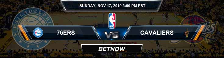 Philadelphia 76ers vs Cleveland Cavaliers 11-17-2019 NBA Odds and Picks