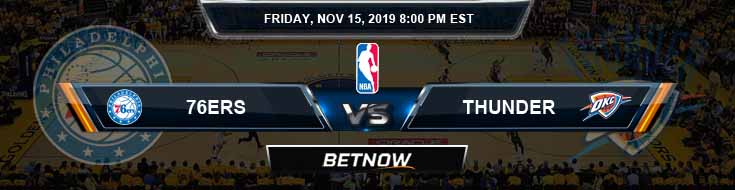 Philadelphia 76ers vs Oklahoma City Thunder 11-15-2019 NBA Odds and Picks