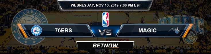Philadelphia 76ers vs Orlando Magic 11-13-2019 Odds Picks and Previews