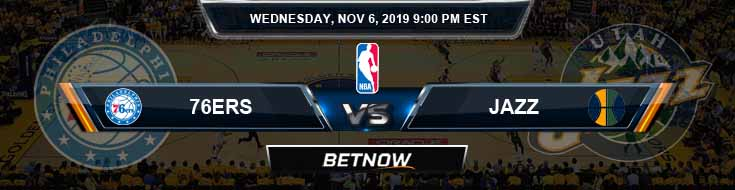 Philadelphia 76ers vs Utah Jazz 11-06-2019 NBA Picks and Game Analysis