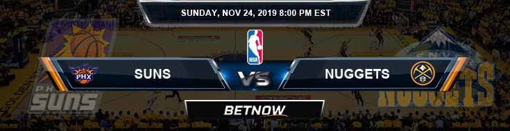 Phoenix Suns vs Denver Nuggets 11-24-2019 NBA Odds and Game Analysis