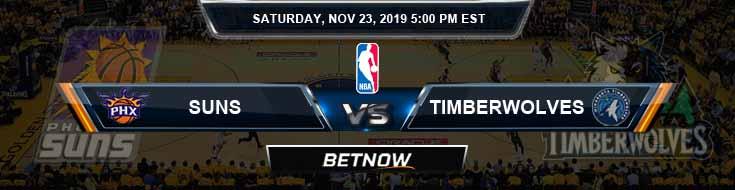 Phoenix Suns vs Minnesota Timberwolves 11-23-2019 Odds Picks and Previews