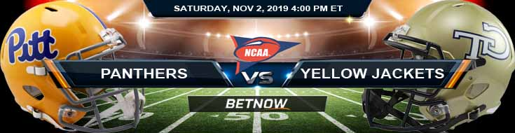 Pittsburgh Panthers vs Georgia Tech Yellow Jackets 11-02-2019 Picks Odds and Preview