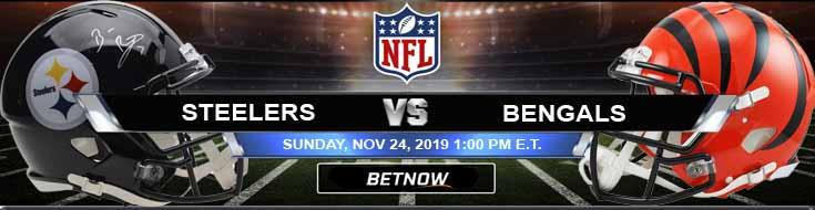 Pittsburgh Steelers vs Cincinnati Bengals 11-24-2019 Picks Odds and Previews