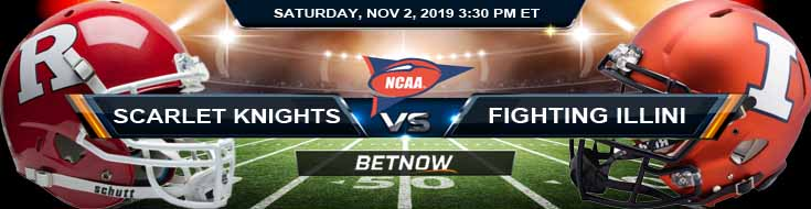Rutgers Scarlet Knights vs Illinois Fighting Illini 11-02-2019 Game Analysis Picks and Predictions