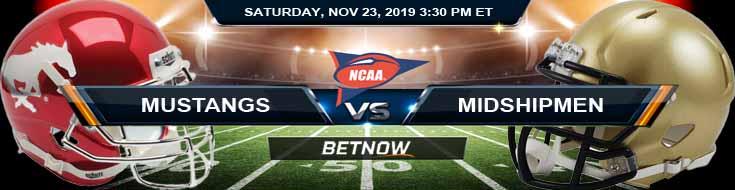 SMU Mustangs vs Navy Midshipmen 11-23-2019 Picks Odds and Game Analysis
