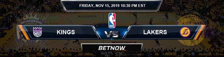 Sacramento Kings vs Los Angeles Lakers 11-15-2019 NBA Odds and Picks