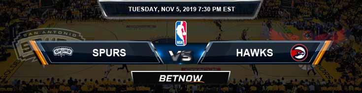 San Antonio Spurs vs Atlanta Hawks 11-05-2019 NBA Odds and Spread