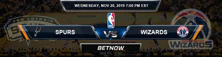 San Antonio Spurs vs Washington Wizards 11-20-2019 Odds Picks and Previews