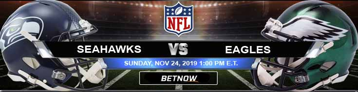 Seattle Seahawks vs Philadelphia Eagles 11-24-2019 Picks Predictions and Previews