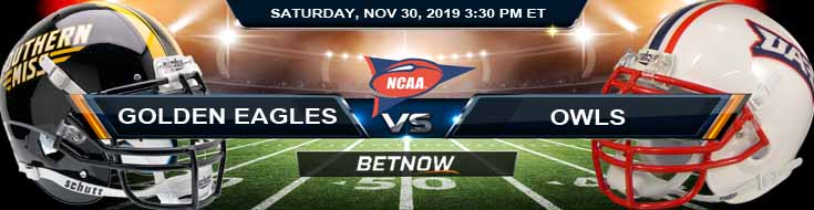 Southern Miss Golden Eagles vs Florida Atlantic Owls 11-30-2019 Game Analysis Predictions and Odds