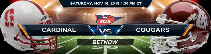 Stanford Cardinals vs Washington State Cougars 11-16-2019 Picks Odds and Game Analysis