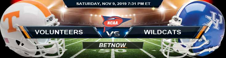Tennessee Volunteers vs Kentucky Wildcats 11-09-2019 Previews Picks and Odds