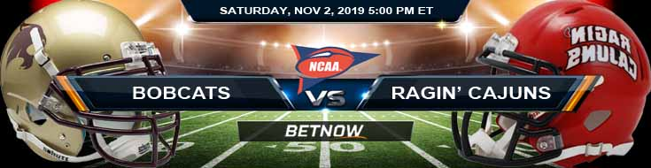 Texas State Bobcats vs Louisiana Ragin Cajuns 11-02-2019 Odds Picks and Predictions