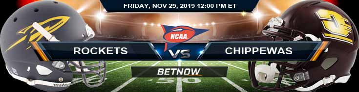 Toledo Rockets vs Central Michigan Chippewas 11-29-2019 Top Sports Books Predictions and Previews