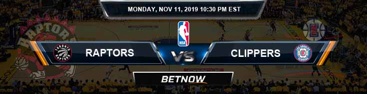 Toronto Raptors vs Los Angeles Clippers 11-11-2019 NBA Odds and Picks