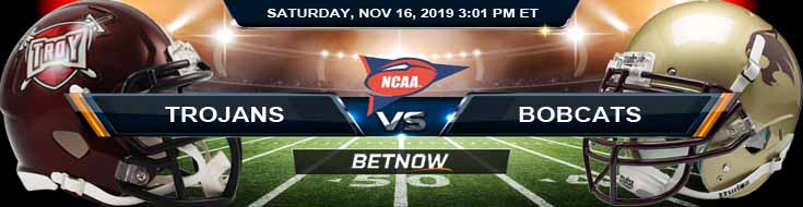 Troy Trojans vs Texas State Bobcats 11-16-2019 Picks Game Analysis and Odds