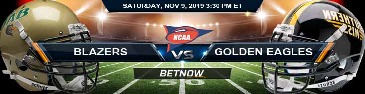 UAB Blazers vs Southern Miss Golden Eagles 11-09-2019 Picks Spread and Odds