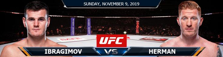 UFC Fight Night 163 Ibragimov vs Herman 11092019 Odds, Previews and Picks