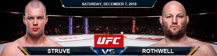 UFC on ESPN 7 Struve vs Rothwell 12-07-2019 Previews Predictions and Picks