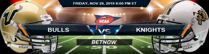 USF Bulls vs UCF Knights 11-29-2019 Legal Online Wagering Odds and Previews