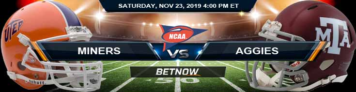 UTEP Miners vs New Mexico State Aggies 11-23-2019 Picks Odds and Game Analysis