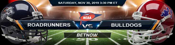 UTSA Roadrunners vs LA Tech Bulldogs 11-30-2019 Spread Picks and Predictions