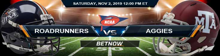 UTSA Roadrunners vs Texas A&M Aggies 11-02-2019 Spread Predictions and Previews