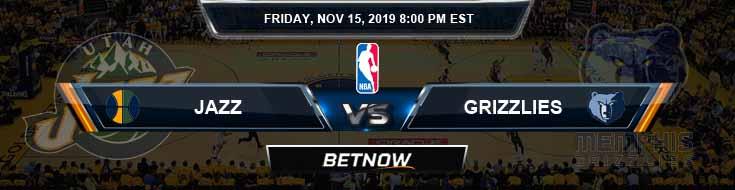 Utah Jazz vs Memphis Grizzlies 11-15-2019 NBA Spread and Game Analysis