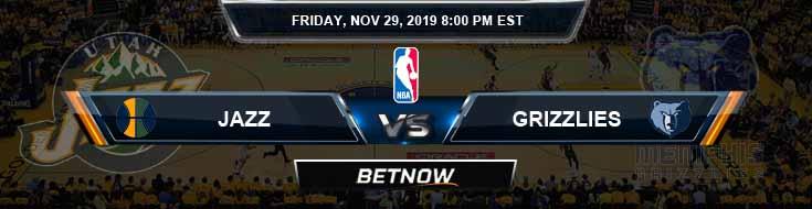 Utah Jazz vs Memphis Grizzlies 11-29-2019 NBA Odds and Game Analysis