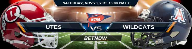 Utah Utes vs Arizona Wildcats 11-23-2019 Picks Game Analysis and Odds