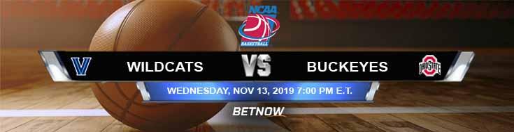 Villanova Wildcats vs Ohio State Buckeyes 11-13-2019 Spread Odds and Predictions