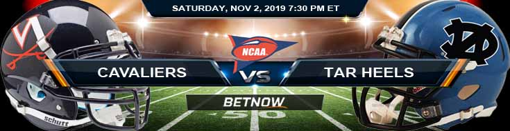 Virginia Cavaliers vs North Carolina Tar Heels 11-02-2019 Picks Predictions and Odds