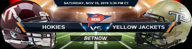 Virginia Tech Hokies vs Georgia Tech Yellow Jackets 11-16-2019 Previews Odds and Predictions