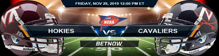 Virginia Tech Hokies vs Virginia Cavaliers 11-29-2019 College Football Betting Sites Odds and Predictions