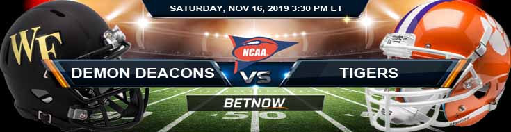 Wake Forest Demon Deacons vs Clemson Tigers 11-16-2019 Picks Game Analysis and Predictions