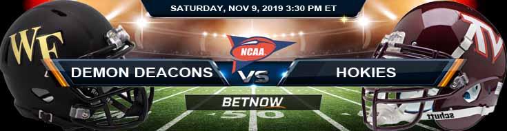 Wake Forest Demon Deacons vs Virginia Tech Hokies 11-09-2019 Picks Odds and Game Analysis