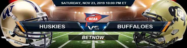 Washington Huskies vs Colorado Buffaloes 11-23-2019 Previews Picks and Odds