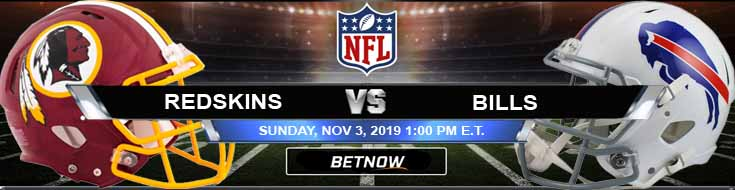 Washington Redskins vs Buffalo Bills 11-03-2019 Picks Game Analysis and Odds