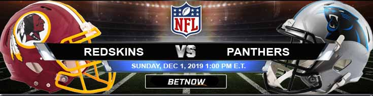 Washington Redskins vs Carolina Panthers 12-01-2019 Spread Odds and Game Analysis